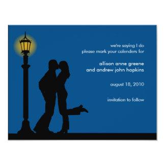 Una reserva romántica de la tarde la invitación de invitación 10,8 x 13,9 cm