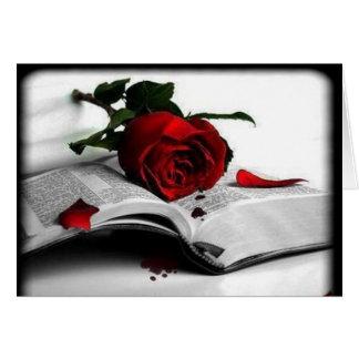 Una rosa para mi amor - tarjeta