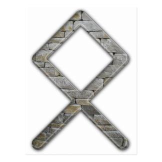 Una runa más vieja Odal de Futhark Postal