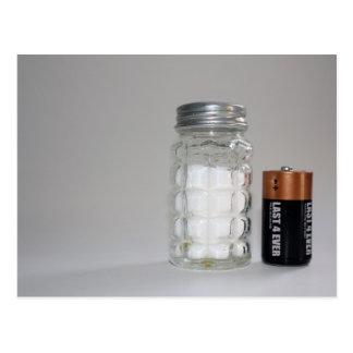 Una sal y una batería postal