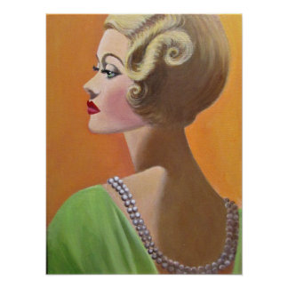 Una señora con clase del vintage póster