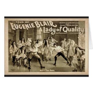 Una señora de la calidad Act1 El vintage Theate Felicitacion