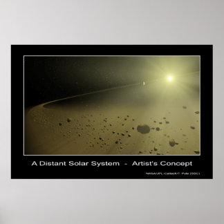Una Sistema Solar distante - el concepto del artis Impresiones