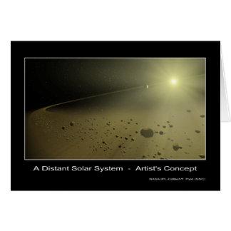 Una Sistema Solar distante - el concepto del artis Felicitacion