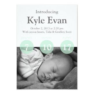 Una tarjeta adaptable de la invitación del bebé de invitación 12,7 x 17,8 cm