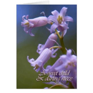 Una tarjeta de condolencia dulce de la sobrina del