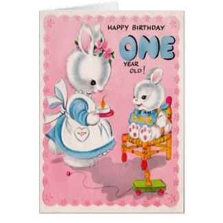 Una tarjeta de cumpleaños año linda
