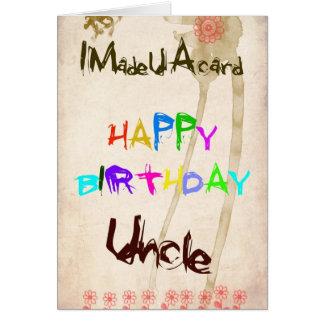 Una tarjeta de cumpleaños para el tío