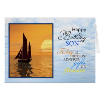 Una tarjeta de cumpleaños para un hijo. Una