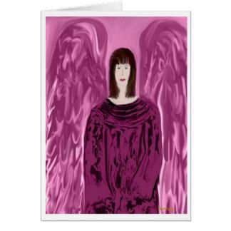 Una tarjeta de felicitación del ángel del coro