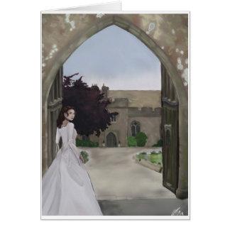 Una tarjeta de felicitación del boda del castillo