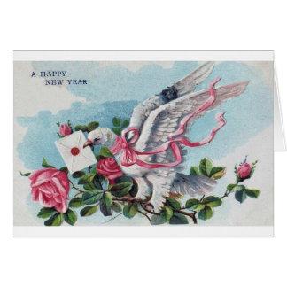 Una tarjeta de la Feliz Año Nuevo
