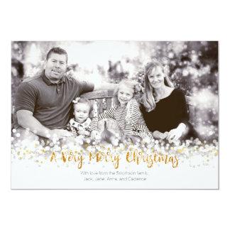 Una tarjeta de la foto de las Felices Navidad muy