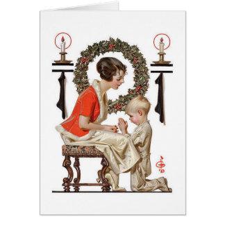 Una tarjeta de Navidad del vintage J.C.Leyendecker