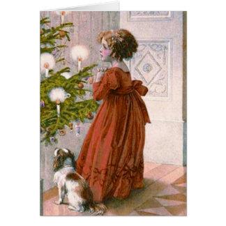 Una tarjeta de Navidad encantadora del Victorian