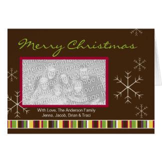 Una tarjeta de Navidad moderna de la foto del ciru