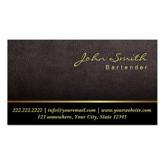 Una tarjeta de visita de cuero más oscura del cama