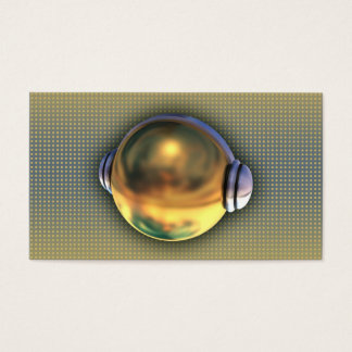 Una tarjeta de visita fresca del logotipo de 3D DJ