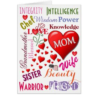 Una tarjeta del amor del día de madre