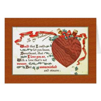 una tarjeta del día de San Valentín del carpintero