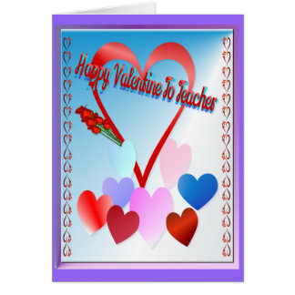 Una tarjeta del día de San Valentín para el profes