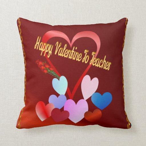 Una tarjeta del día de San Valentín para el profes Almohada