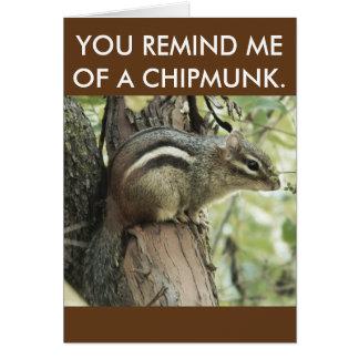 ¡Una tarjeta divertida del chipmunk que es