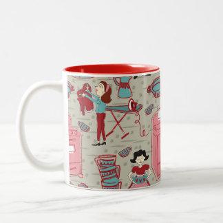 Una taza de café feliz del hogar