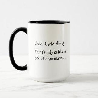 Una taza de encargo divertida del texto para un