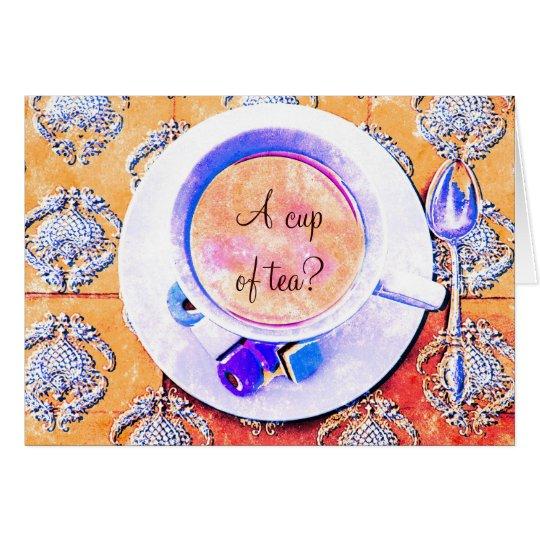 Una taza de té - victorian de la taza de té tarjeta de felicitación