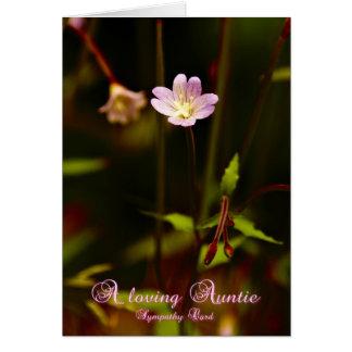 Una tía cariñosa, tarjeta de condolencia