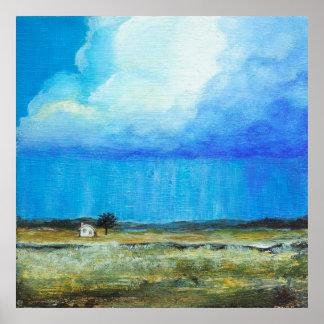 Una tormenta perfecta, arte del paisaje que pinta