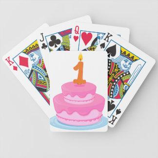 una torta de cumpleaños baraja