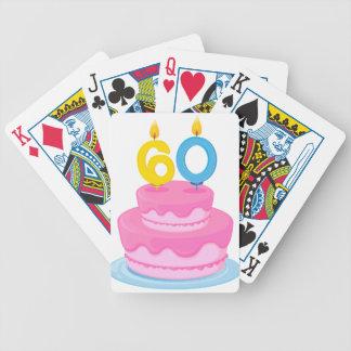 una torta de cumpleaños baraja cartas de poker