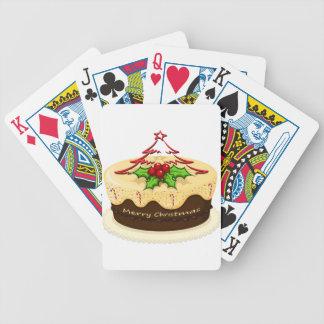 Una torta deliciosa para el navidad barajas de cartas