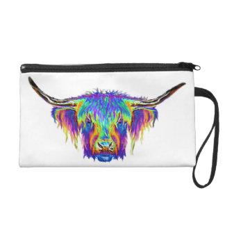 Una vaca colorida hermosa bolsito de fiesta