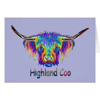 Una vaca colorida hermosa tarjeta de felicitación