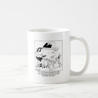 Una vaca da testimonio tazas