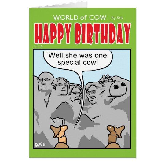 Una vaca especial tarjeta de felicitación
