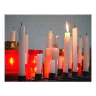 Una vela para la paz flyer a todo color