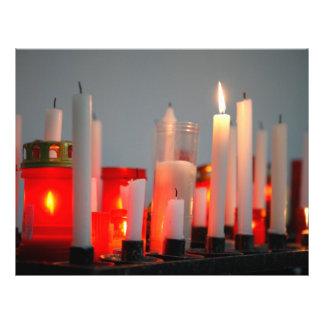 Una vela para la paz folleto 21,6 x 28 cm