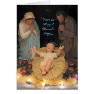 Una vez en la tarjeta de Navidad de la ciudad de