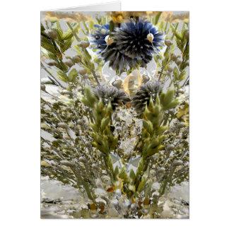 Una vez flores, siempre hermosas tarjeta de felicitación