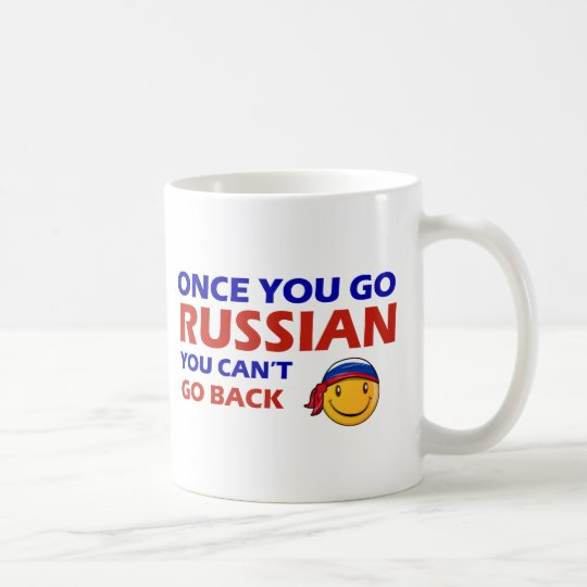Una vez que usted va ruso taza de café