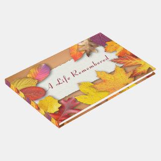 Una vida recordada:  Libro de visitas fúnebre