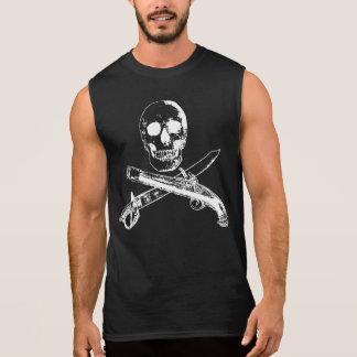 Una vida SKULLSHIRT_4 de los piratas Camiseta Sin Mangas