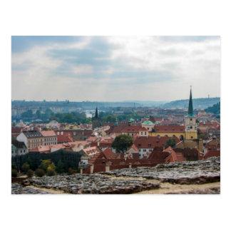 Una visión desde el castillo de Praga - postal