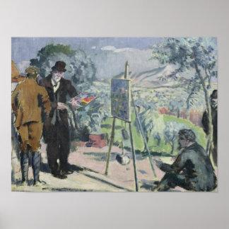 Una visita a la casa de Cezanne Póster