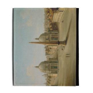 Una vista de la plaza del Popolo (aceite en lona)