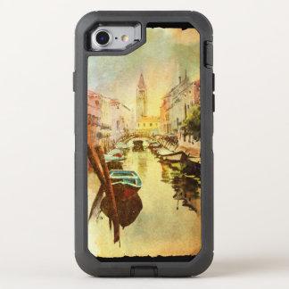 Una vista del canal con los barcos y los edificios funda OtterBox defender para iPhone 8/7